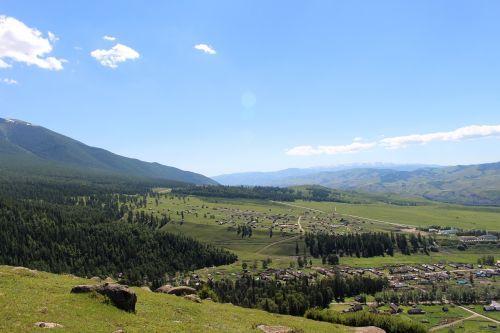 prairie,kraštovaizdis,xinjiang