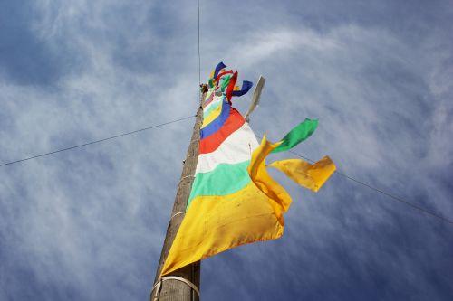 maldos vėliavos,dangus,tibetietis