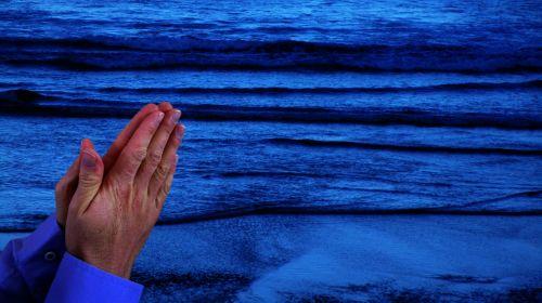 fonas, fonas, tikėk, mėlynas, kaukazo, tamsi, dievas, Patinas, melstis, malda, meldžiasi, religija, religinis, jūra, tapetai, vanduo, bangos, platus & nbsp, ekranas, melstis rankas jūroje