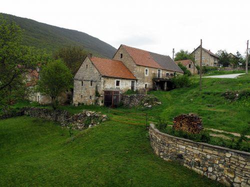 prilukos kaimas,Bosnija ir Hercegovina,kaimas,kaimas,namas,kaimas,žalias,natūralus,ūkininkavimas