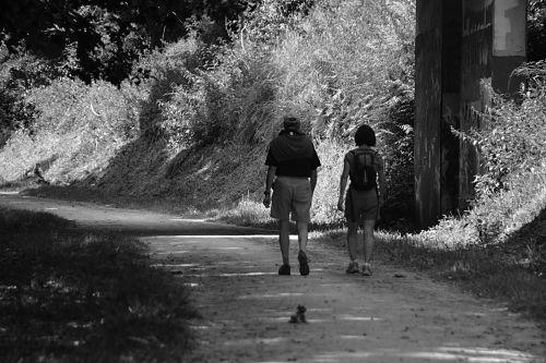 vaikščioti, vaikščioti, šeima, juoda & nbsp, balta, pramogos, personažai, alkas grynu oru