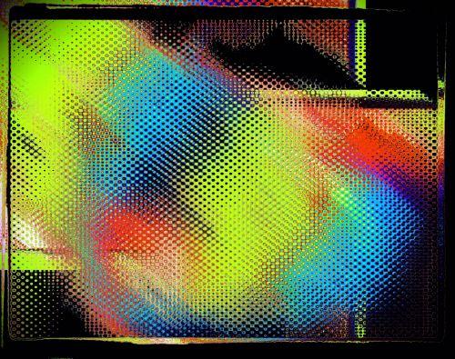 abstraktus, vykdo & nbsp, meną, elektroninė, vibracija, galūnės, skyrybingas spalvingas triukšmas
