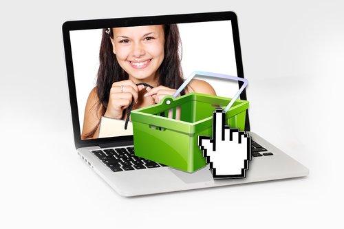 pirkimo, prisijungęs, Pirkinių, Pirkinių krepšelis, pirkinių krepšys, ekranas, klientų, moteris, džiaugsmas, pirkti, turgus