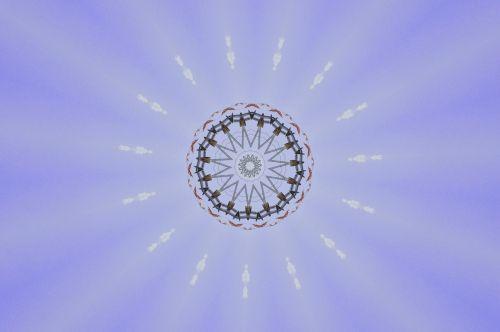 žvaigždė, naujas & nbsp, amžius, spindi, apšviestas, apšvietimas, violetinė, švytėjimas, žėrintis, violetinė žėrintis žvaigždutė