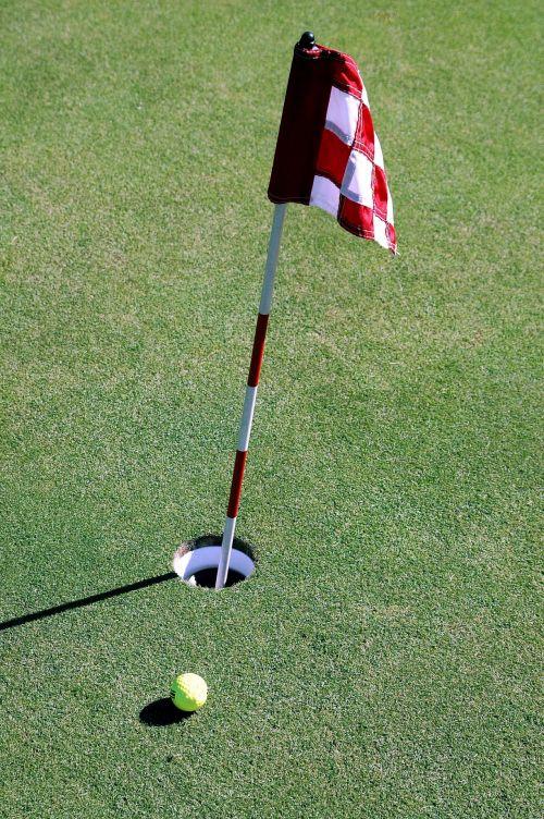 golfas, žalias, vėliava, žaidimas, Sportas, skylė, įdėti, praktika, lauke, žinoma, laisvalaikis, poilsis, įdėti žalia