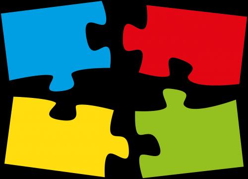 galvosūkis,galvosūkiai,priklausyti kartu,bendravimas,piešimas,Dalintis,įterpti vienas į kitą,sutraukti kartu,sutapimo kabliai,spalvinga,atskirtas,kartu,mėlynas,raudona,žalias,geltona,spalva,tinka