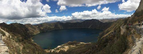 quilotoa,laguna,panoraminis,panorama,kraštovaizdis,žygiai,ecuador,laguna verde,turkio marios,gamta,vulkanas,alpinizmas