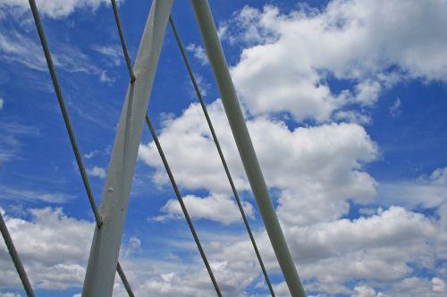 kruizinio laivo turėklai,turėklai,balta,susilpninimas,dangus,mėlynas,debesys