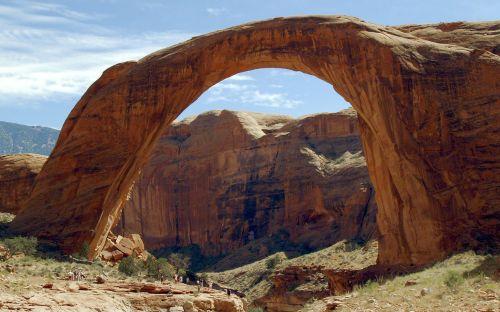 vaivorykštės tiltas,ežero powell,Arizona,usa,gražus,raudona,akmenys,arka