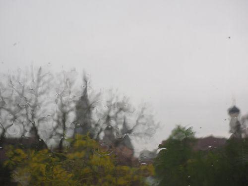 lietingas oras,ulm,lietus,audra,ulmi katedra,rudens oras,oras,langas,liūtys,lašelinė