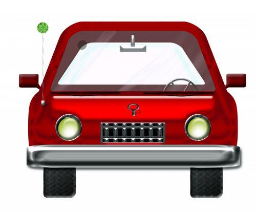 raudona & nbsp, automobilis, automatinis, automobilis, raudona, iliustracija, animacinis filmas, raudona mašina