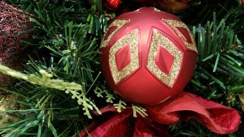 Kalėdos, ornamentas, apdaila, rutulys, raudona, fonas, raudonas Kalėdinis ornamentas