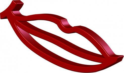 piešimas, raudona, lūpos, 3d, izoliuotas, balta, fonas, doodling, raudonos lūpos
