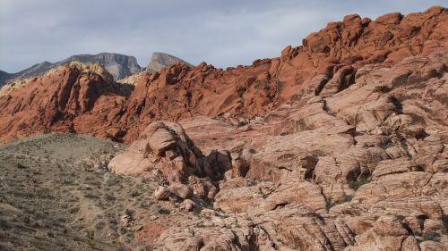 Raudona Roko Kanjonas, Kraštovaizdis, Dykuma, Kalnas, Nevada, Natūralus, Dykuma