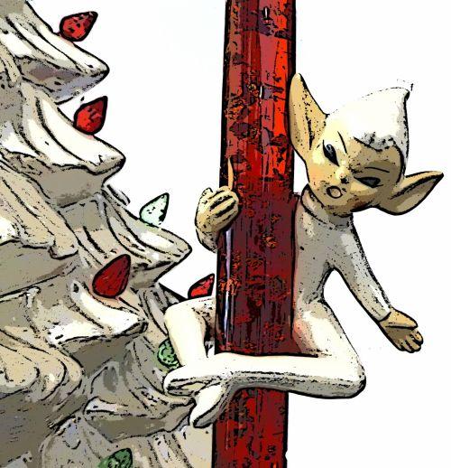 Kalėdos, xmas, Elfas, elfai, raudona, apdaila, šventė, sezoninis, raudonas senovinis elfas