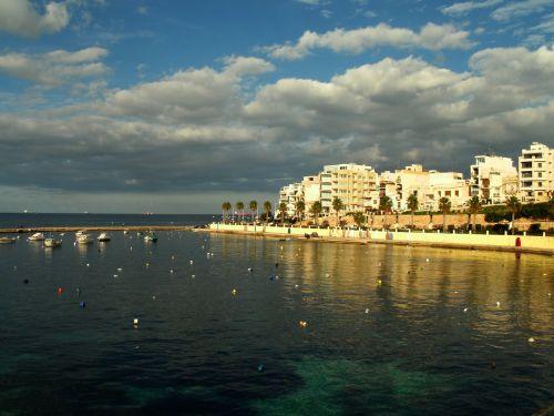 jūra, pajūryje, įlanka, Cove, apmąstymai, atspindys, valtys, kraštovaizdis, jūros dugnas, saulėtą dieną & nbsp, apmąstymai