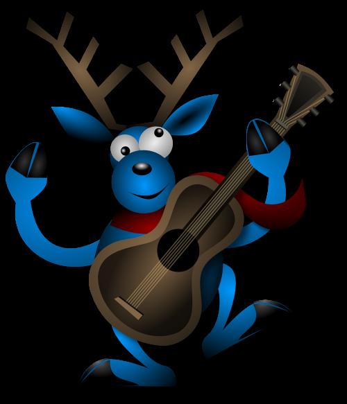 šiaurės elniai,šokiai,gitara,instrumentas,Kalėdos,noel,x-mas,xmas,šokis,elnias,laimingas,muzikinis,žaisti,Reno,elniai,žiema,mėlynas,briedis,elnelis,nemokama vektorinė grafika