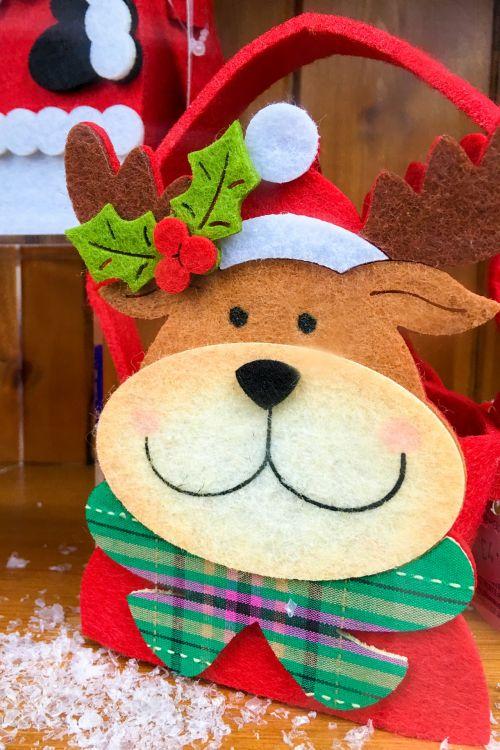 maišas, šventė, Kalėdos, mielas, elnias, linksma, juokinga, laimingas, šventė, raudona, šiaurės elniai, santa, sezonas, šypsena, žiema, xmas, elnių maišas