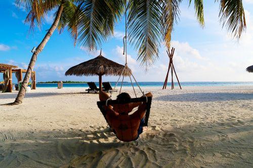 atsipalaiduoti,delnas,rojus,smėlis,kurortas,papludimys,kelionė,sala,šventė,jūra,medis,gamta,mėlynas,dangus,vanduo,vasara,vintage,saulė,turizmas,Maldyvai