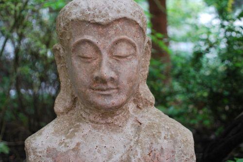 religija,Budos figūra,sodas,asija,Rytų religija,meditacija,menas,galva,akmens figūra,atsidavimas,Ilona