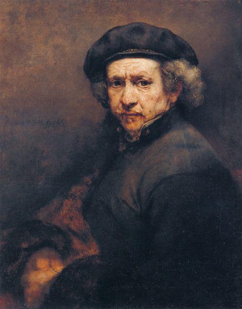 rembrandt harmenszoon van rijn,dailininkas,menininkai,autoportretas,portretas,vyras,Tapyba aliejiniais dažais,dažymas