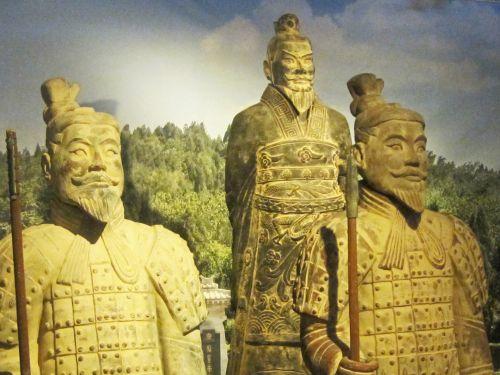 kariai, molis, kinai, kareiviai, armija, nepastebėtas, istorinis, kopijos, Kinijos molio karių replika
