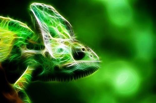 ropliai,fraktalas,žalias,gyvūnas,iguana,ropliai,blizgantis,iguanas,driežas