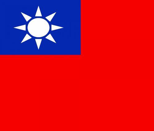 respublika, vėliava, Kinija, clip & nbsp, menas, Taivanas, Kinijos vėliava respublika