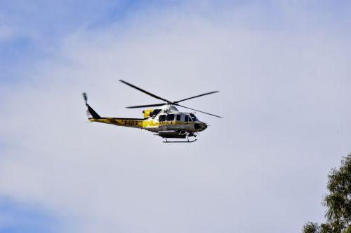 gelbėjimas, purentuvas, sraigtasparnis, geltona, Ugnis, skraidantis, gelbėjimo mašina virš galvos
