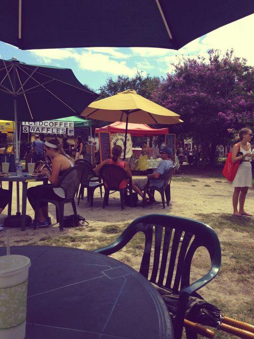 restoranas,kavinė,lauke,maistas,skėtis,lauke,žmonės,stalas,Grunge