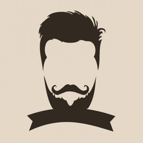 retro, eskizas, menas, logotipas, logo hipster, veidas, atkreipti, vyras, interneto svetainės dizainas, be honoraro mokesčio