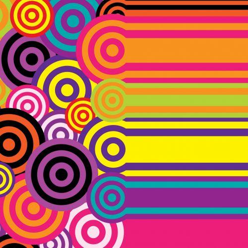 apskritimai, retro, juostelės, vintage, 60s, 70s, spalvinga, šviesus, menas, tapetai, fonas, popierius, dizainas, iliustracija, Scrapbooking, Laisvas, viešasis & nbsp, domenas, retro sluoksniai ir, juostos 60s