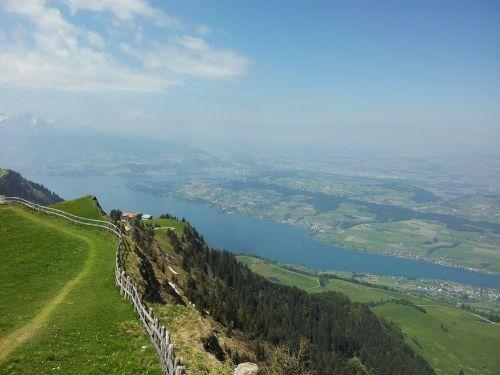 rigi,centrinė šveicarija,Alpių,žygis,žygiai,vasara,Šveicarija,vidinė šveicarija