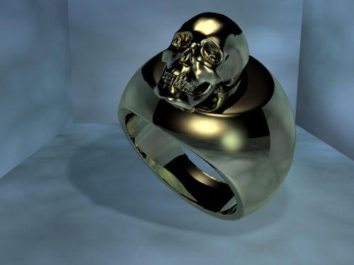 žiedas, auksas, kaukolė, metalas, auksas & nbsp, žiedas, pirštas & nbsp, žiedas, blizgantis, metalinis, auksas & nbsp, žiedas, auksinis, žiedas