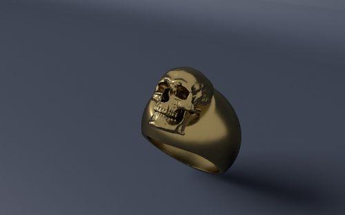žiedas,auksas,kaukolė ir skersmens kaulai,papuošalai,auksinis žiedas,auksinis,blizgantis,piršto žiedas,Auksinis Žiedas