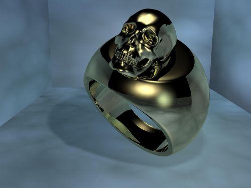žiedas,auksas,kaukolė ir skersmens kaulai,kaukolė,metalas,Auksinis Žiedas,piršto žiedas,blizgantis,metalinis,auksinis žiedas,auksinis