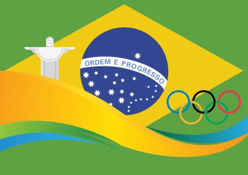 rio,2016,olimpiada,vėliava,Brazilija,olimpiniai žiedai,Sportas,Rio de Žaneiras,5 žiedai,varzybos,jaunimas,sporto jaunimas,krikščionio statula,Cristo Redentor,kalnas,banga,jūra,simbolinis,grafika,nemokama vektorinė grafika