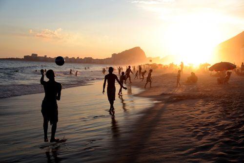 upė,Brazilija Brazilija copacabana,vasara,paplūdimys,carioca,Brazilijos,saulėlydis,rio de janeiro futbolas,Royalty Free