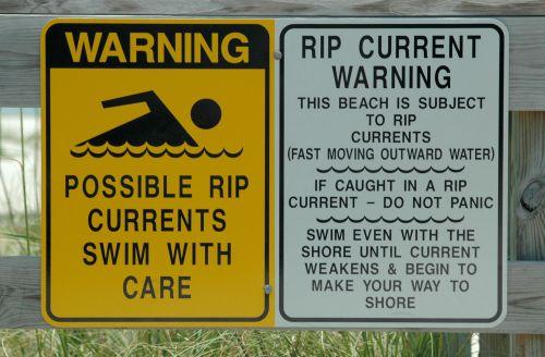 rip & nbsp, tide, potvynis, vanduo, įspėjimas & nbsp, ženklas, ženklas, papludimys, vandenynas, naršyti, saugumas, pavojingas, atplėšimo įspėjimo ženklas
