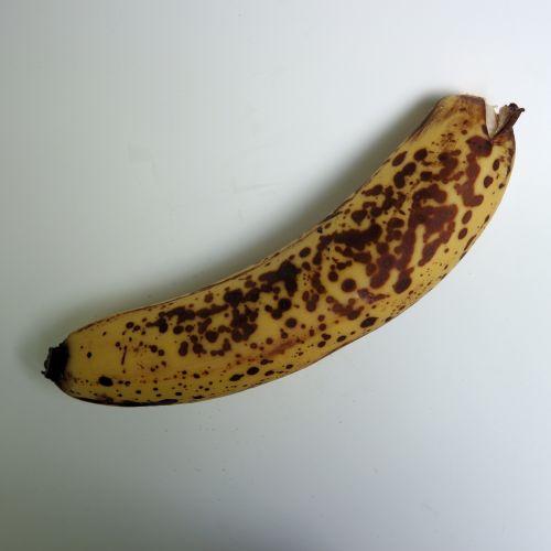 prinokę, bananas, izoliuotas, balta, fonas, vaisiai, atogrąžų, Iš arti, studija, niekas, sveikas, maistas, geltona, ruda, prinokę bananai