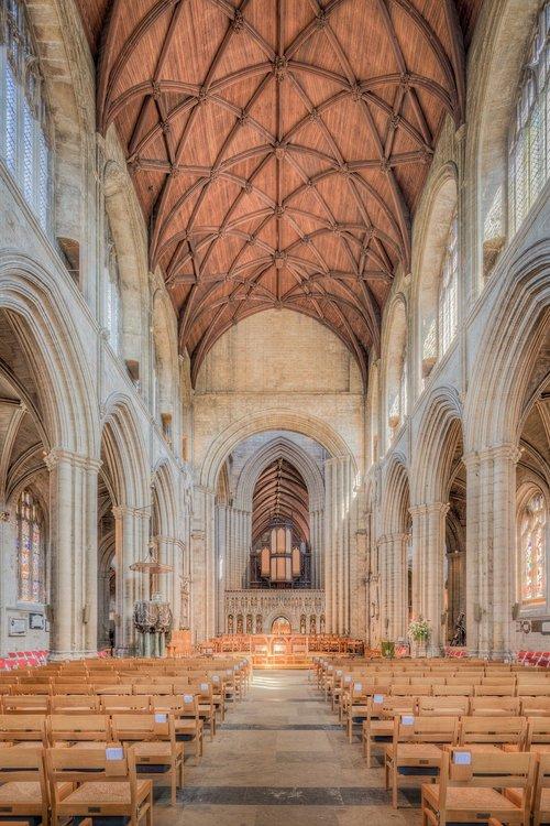 Ripon katedra, Ripon, katedra, bažnyčia, Abbey, Minster, religinis, Religija, šventa, Šventoji, melstis, melstis, nava, interjero, interjerai, architektūra, statyba, kambarys, vieta, Anglų, Britų, Europos, istorinis, metai, gotika