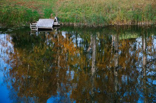 upė,atspindys,ruduo,vanduo,dangus,rami upė,medis,kraštovaizdis,medžiai,tyla,mažoji upė,atspindys vandenyje,september,Суздаль,pomostki,Rusija,ruduo upe,vakarinis krantas,Andrius Larionovas