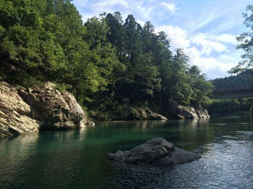 upė,Japonija,leisti,natūralus,vanduo,slėnis,žalias,vandens šaltiniai