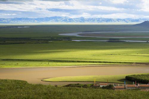 upė,ganyklos,prairie,kraštovaizdis,gamta,dangus,žolė,vaizdingas,vanduo,žalias,natūralus,lauke,vasara,kalnas,lietus,geltona upė,zoige,mėlynas,vasaros kraštovaizdis,gamtos kraštovaizdis