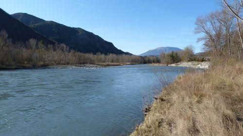 upė,vandens telkiniai,kraštovaizdis,gamta,hautes alpes,durance upė