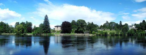 upė,upė tay,namai ant kranto,Škotija,vanduo,perth