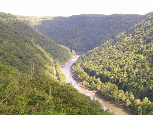 upė, nepastebėti, kraštovaizdis, va, virginia, miškai, upė užima kraštovaizdį