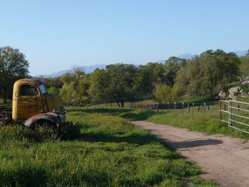 kelias,ranča,sunkvežimis,kaimas