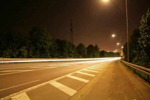 kelias,šviesa,ilga ekspozicija,asfaltas,derva,kelių ženklinimas,vairuoti automobilį,eismas,automatinis,vairuoti