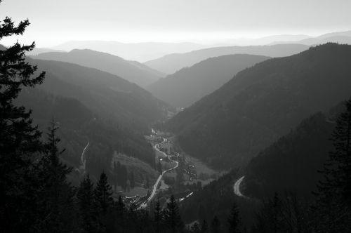 kelias, slėnis, kraštovaizdis, kalnai, platus, vairuoti, vienatvė, Gorge, kreivės
